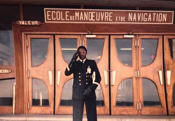 Le père de Jules Diatta, à l'Ecole navale dans les années 90