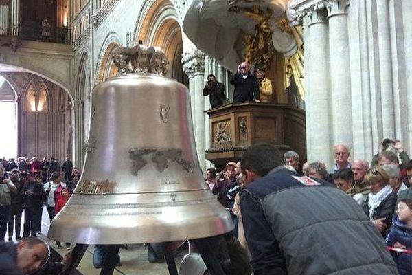 La cloche de la paix et de la Liberté à Bayeux, 23 avril 2014
