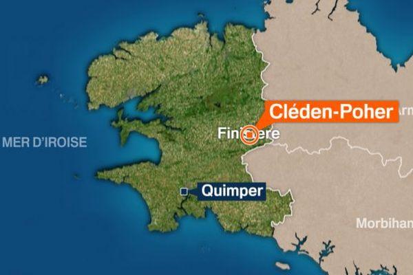 Accident de Poids-lourd à Cléden-Poher