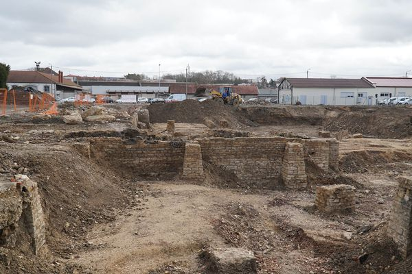 """Le site de l'ancienne """"gare des tramways"""" ou gare """"des tacots"""", mise au jour par l'INRAP"""
