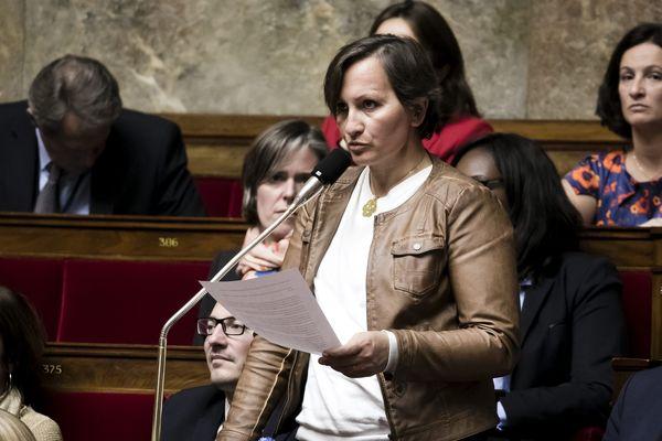 La députée de l'Allier Laurence Vanceunebrock-Mialon (LREM) à l'Assemblée Nationale.