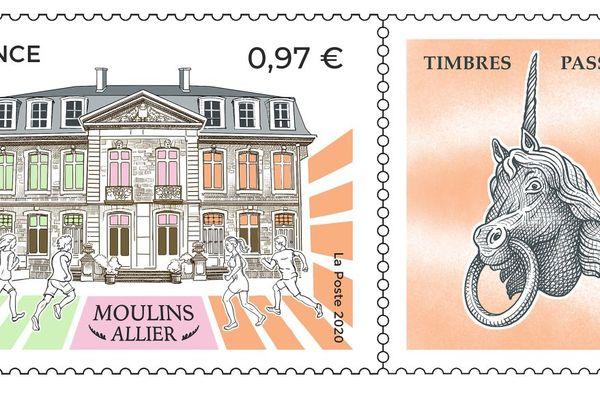 Le timbre du Salon du Timbres de Moulins est en compétition du concours du timbre de l'année.