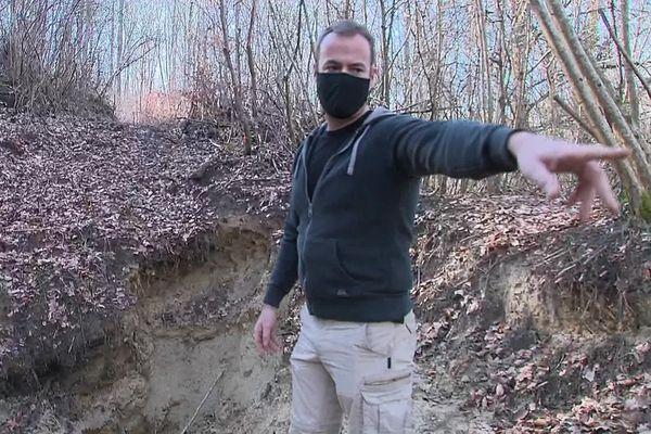 """Pierre Malinowski revendique avoir localisé précisément le """"tunnel de Winterberg""""."""