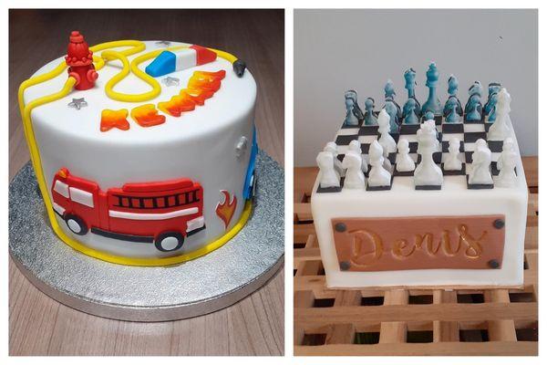 """Près de Belfort, Géraldine Demouge-Verrier façonne des """"cake design"""", une passion dont elle compte bien faire désormais son travail."""