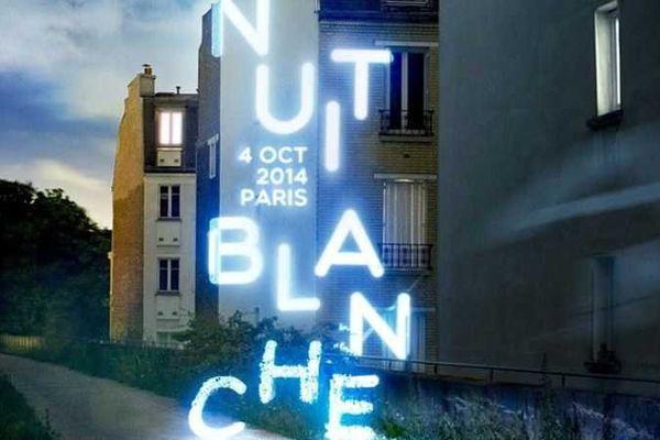 L'affiche de la Nuit Blanche 2014