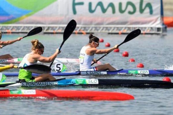Sarah Guyot lors des demi-finales kayak monoplace sur 200m aux JO de Rio - 15 août 2016
