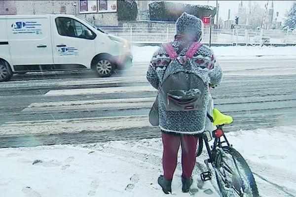 Neige en Pays de Bray le 23 janvier 2019