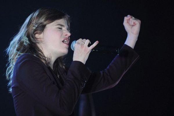 Heloise Letissier, alias Christine and the Queens, ici au Printemps de Bourges, en avril 2013.