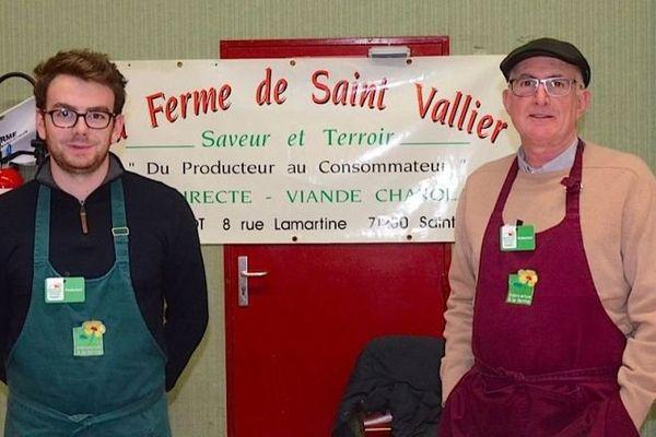 Hubert Beaudot, 60 ans, livre la viande de la ferme de Saint-Vallier, principalement en région parisienne et à Lyon.