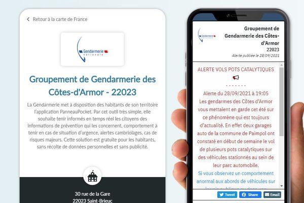 Alerte des gendarmeries des Côtes d'armor sur els vols de pots catalytiques