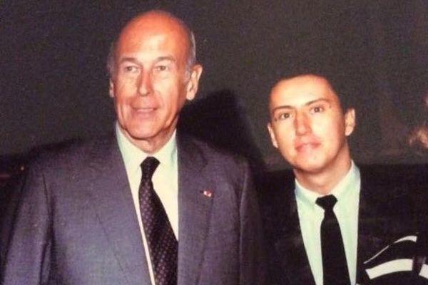 Valéry Giscard d'Estaing et Hervé Caël entre 1983 et 1985.