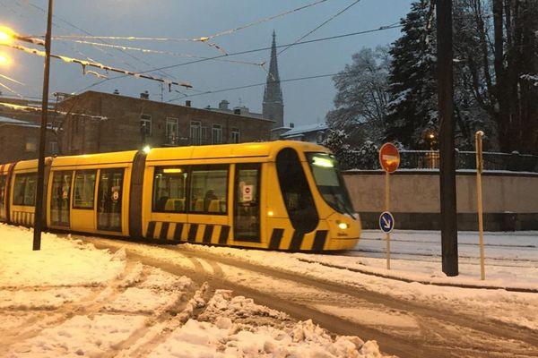 La neige à Mulhouse.