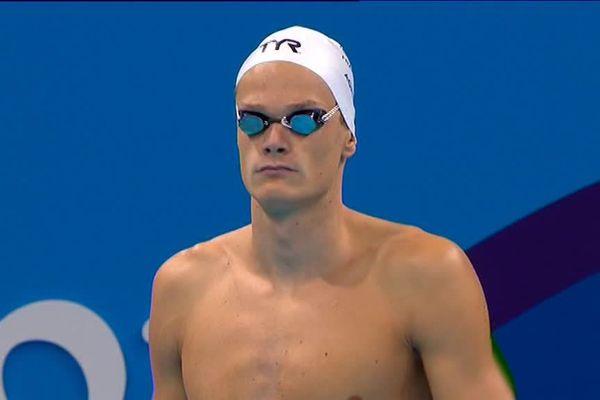 Yannick Agnel, juste avant le départ du 200m nage libre