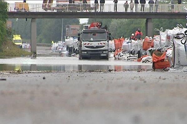 Les véhicules bloqués sur l'A10 évacués durant le week-end