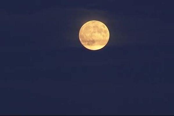 La lune à Perpignan le 28 septembre 2015