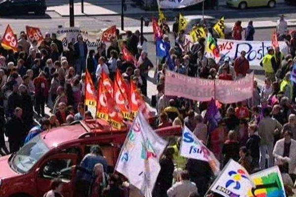 Manifestation de fonctionnaires en 2014 à Dijon