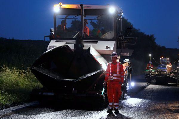 Les travaux de rénovation des chaussées de l'A9 se dérouleront principalement de nuit.