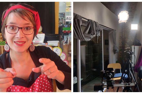 Marie-Solène Letoqueux a improvisé une émission à côté de son salon