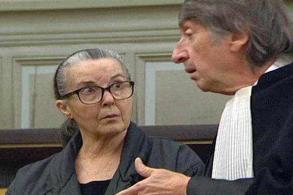 Perpignan - Béatrice Marion accusée du meurtre de son mari aux Assises et son avocat Me Nicolau - novembre 2016.