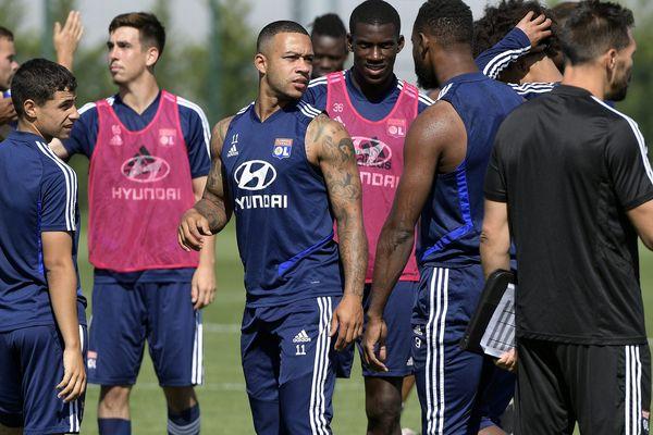 Les joueurs de l'Olympique Lyonnais vont rependre l'entrainement le 8 juin 2020 au Groupama OL Training Center, à Décines.