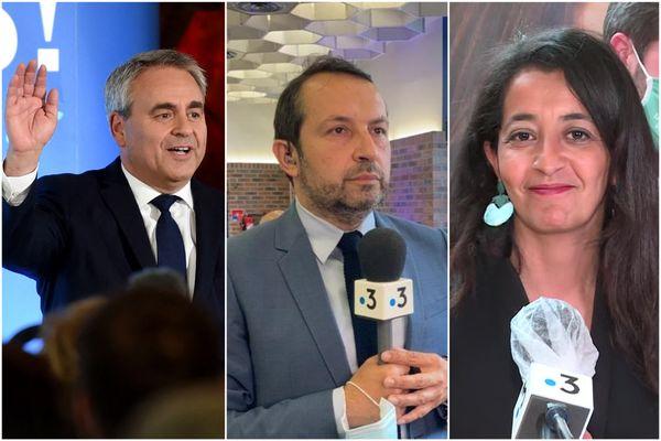 Xavier Bertrand a été largement réélu président de la région Hauts-de-France, devant le candidat du Rassemblement national Sébastien Chenu et la candidate de la gauche unie Karima Delli.