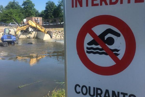 La baignade dans l'Ill est interdite, à Strasbourg comme à Sélestat (où a été retrouvé le corps d'un autre baigneur disparu et noyé le 16 juin 2021).