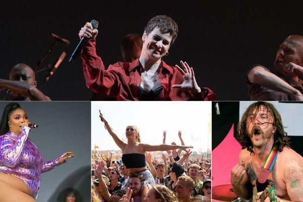 Christine and the Queens, Lizzo (à gauche) et le groupe punk anglais IDLES (à droite) étaient à Glastonbury ce week-end, une semaine avant leur venue au Main Square.