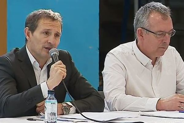 Jean-Sébastien de Casalta, ce samedi 25 janvier au Cosec du Fangu pour discuter de la problématique des déchets.