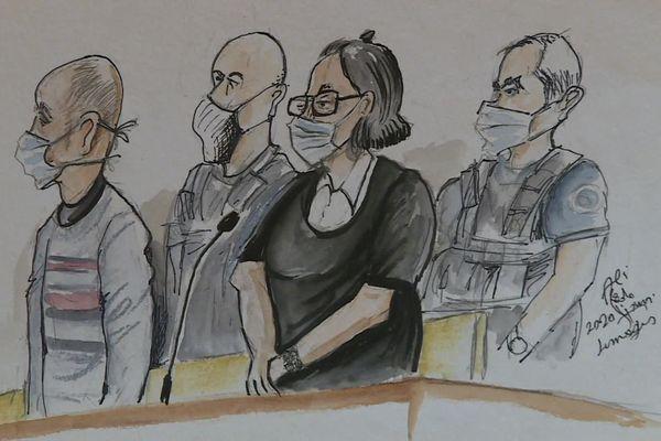 Les parents du petit Gabin, devant la Cour d'assises de la Haute-Vienne pour leur procès en appel en septembre 2020.