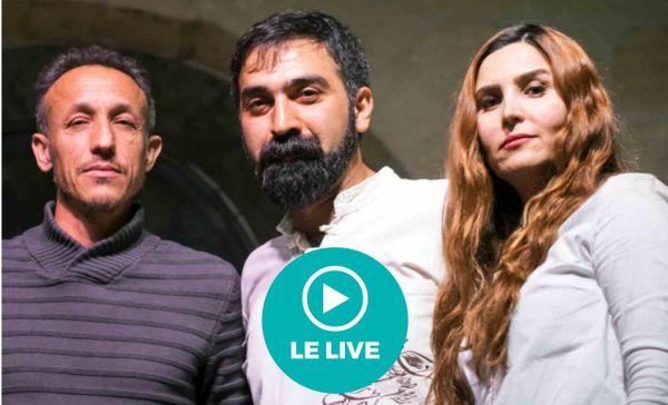 le trio venu du Kurdistan, de Syrie et d'Iran se produira samedi dans une salle vide