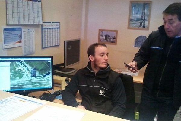 Le directeur d'exploitation Gérard Bonneau de la station de ski de Saint-Lary  teste Alpify