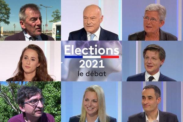 Eddie Puyjalon, Alain Rousset, Geneviève Darrieussecq, Clémence  Guetté, Nicolas Florian, Guillaume Perchet, Edwige Diaz et Nicolas Thierry