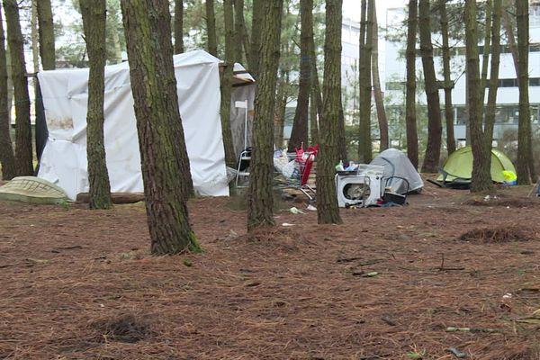 Selon les associations, environ 120 personnes vivraient dans des tentes, autour du lac de Bordeaux
