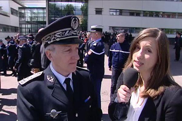 Interview du directeur départemental de la Sécurité Publique Paul Agostini aux côtés de notre journaliste Gaëlle Darengosse