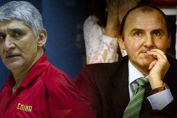 Panagiotis Giannakis, ancien entraîneur du Limoges CSP et Frédéric Forte, président du Limoges Csp