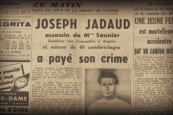 Coupure de presse de l'affaire Jadeau