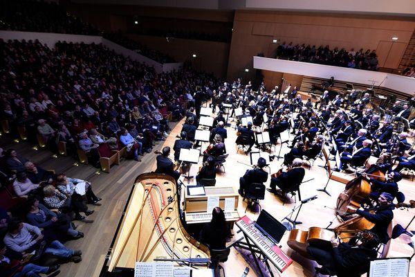 L'Orchestre National de Lille dans son auditorium du Nouveau Siècle.
