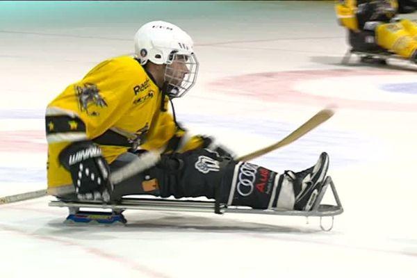 Le hockey luge, discipline proposée par le Club de Hockey Amateur de Rouen (CHAR)