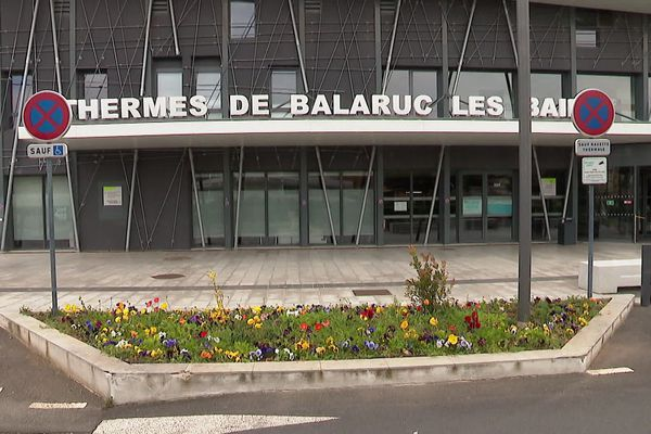 Balaruc-les-Bains (Hérault) - les thermes, première station thermale de France - 2020.