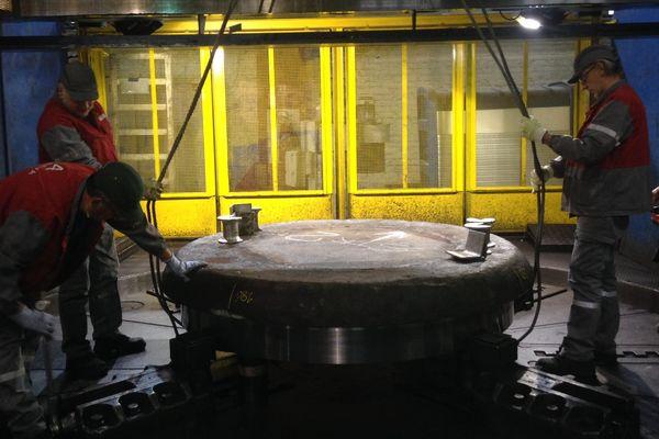 Atelier d'usinage d'Areva au Creusot