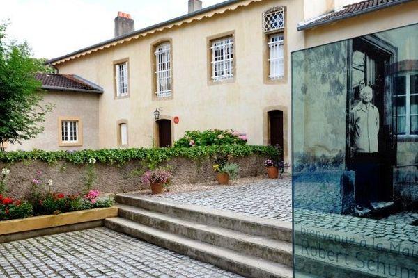 Robert Schuman et sa maison à Scy-Chazelles (Moselle).