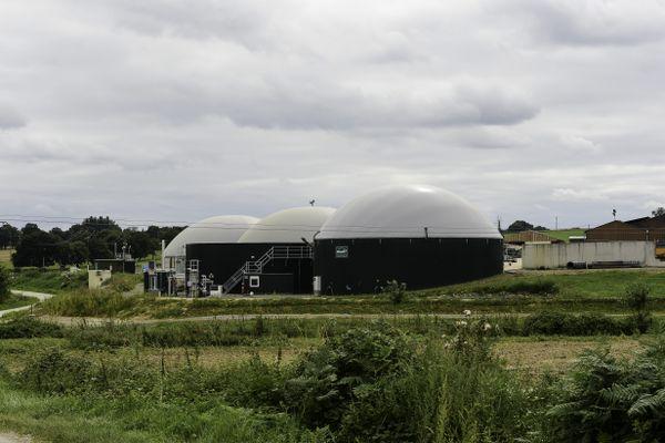 Unité de méthanisation agricole en Bretagne.