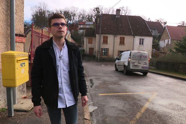 Dylan Demarche, nouveau maire de Vellexon en Haute-Saône