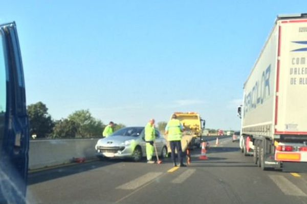collision entre deux véhicules sur l'A9