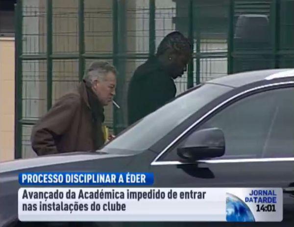 Eder refoulé du centre d'entraînement de l'Academica de Coimbra le 1er février 2012
