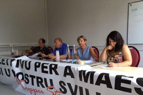 Le collectif Per a maestria di u nostru sviluppu (dont certains membres sont militants et responsables de Core in fronte), tenait une conférence de presse samedi sur la commune de Lucciana.
