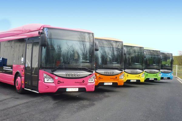 Les bus nouvelle génération de l'agglomération dunkerquoise.