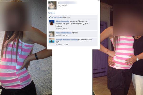 """2012, la jeune femme avait publié des photos de sa """"grossesse"""" sur son compte Facebook."""