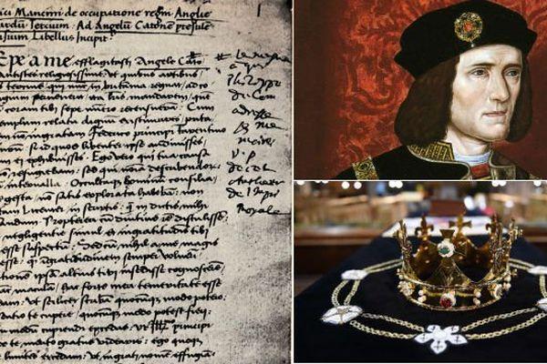 """Ce manuscrit raconte """"l'occupation du trône"""" par Richard III en 1483."""