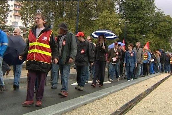 Manifestation contre la réforme des retraites à Besançon le 10 septembre 2013.